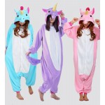 Unicorn Tenma Adult Unisex Pajamas Suits Cartoon Animal Cosplay Costume Flannel Onesies Sleepwear