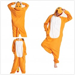 Adult Animal Charmander Pajamas Kiguruma Onesies Fire Dragon Cosplay