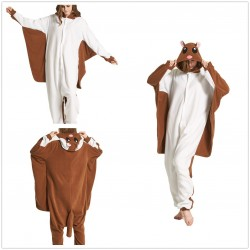 Adult Animal Unisex Flying Squirrel Onesies kigurumi Pajamas