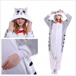 Unisex Adult Pajamas Cheese Tabby Cat Cartoon Nightwear Pyjamas