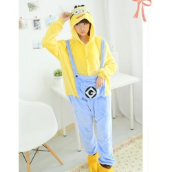 Minions Costume Anime Sleepwear Flannel Pajamas Outfit