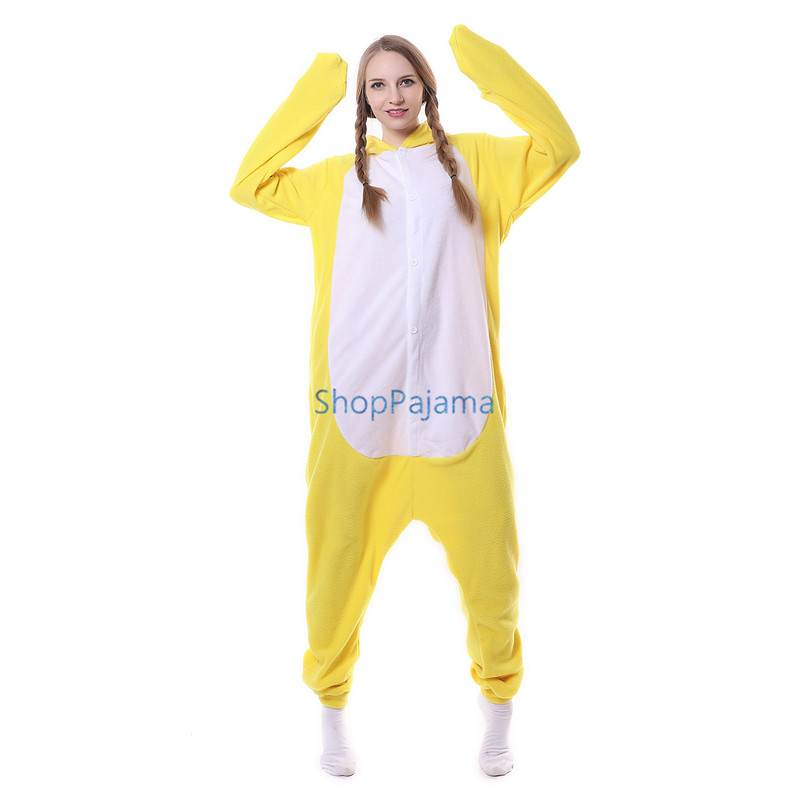 484ff7ce8 Animal Pajamas Yellow Chicken Cosplay Onesies Adults Jumpsuit