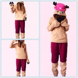 Cartoon Anime ONE PIECE Tony Chopper Split Onesies Pajamas