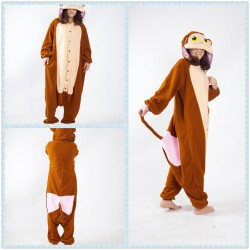 Brown Monkey Onesies Pajama Sets Adult Unisex Costume