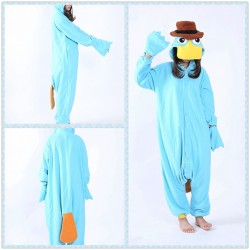 Adult Pyjamas Animal Unisex Perry the Platypus Costumes Onesies