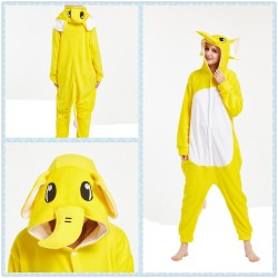 Yellow Elephant Pajamas Onesies Halloween Party Costume