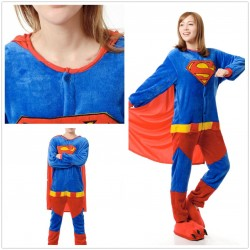 Superman Adult Costume Onesies Pajamas Jumpsuit Hoodies