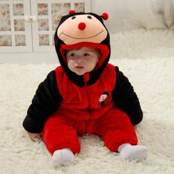 Babies Animal Red Ladybird Onesies Toddler Pajamas