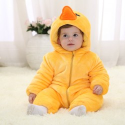 Babies Animal Yellow Duck Onesies Toddler Pajamas