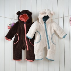 Babies Animal Beige and Brown Bear Onesies Toddler Pajamas