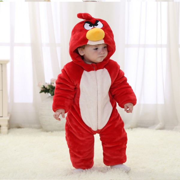 Babies Angrey Bird Cartoon Onesies Toddler Pajamas