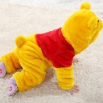 Babies Anime Kigurumi Winne the Pooh Onesies Toddler Pajamas
