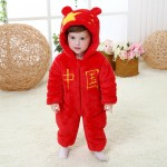 Babies Chinese National Flag Onesies Toddler Pajamas