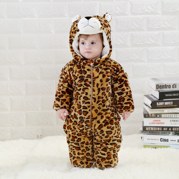 Babies  Animal Leopard Onesies Toddler Pajamas