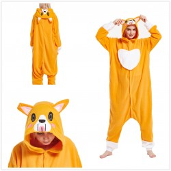 Corgi Dog Onesie Kigurumi Pajama For Adult Costume