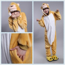 Chinese Zodiac Signs Monkey Kigurumi Animal Onesies Pajamas Costumes