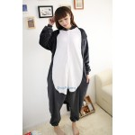 Black Timber Wolf Kigurumi Onesie Pajama For Adult Costume