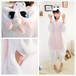 Lavender Unicorn Kigurumi Onesie Pajama For Adult Costume