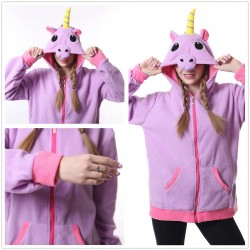 Purple Unicorn Kigurumi  Zip-up Hoodie  Pajama