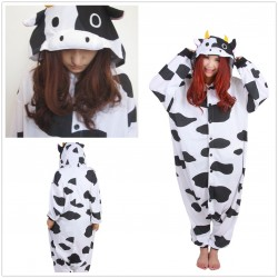 Cow Cartoon Kigurumi Onesie Pajama For Adult Costume