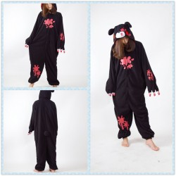 Black Gloomy Bear Kigurumi Onesie Pajama For Adult Costume