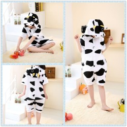 kids Cow Short Sleeves Kigurumi Onesie Pajama