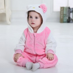 Pink Baby Kitty Cat Kigurumi Onesie Pajama