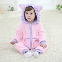 Baby Purple Cat Kigurumi Onesie Pajama
