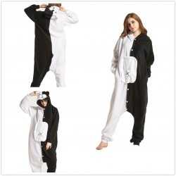 Adult Unisex Winter Monokuma Black White Bear Kigurumi Onesie Pajamas