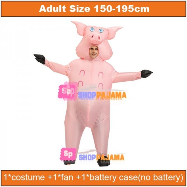 Pink Big-faced Pig Mascot Inflatable Costume