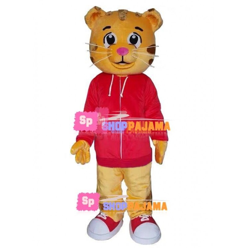 Little Tiger In Sports Hoodie Mascot Costume