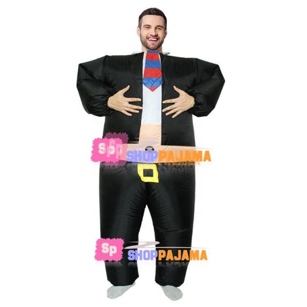 Inflatable Formal Wear Company Manager Mascot Costume
