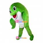 Agreeable Little Green Dolphin Mascot Costume