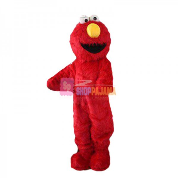 Professional Red Elmo Mascot Costume Suit Fancy Dress For Halloween Cosplay Xmas