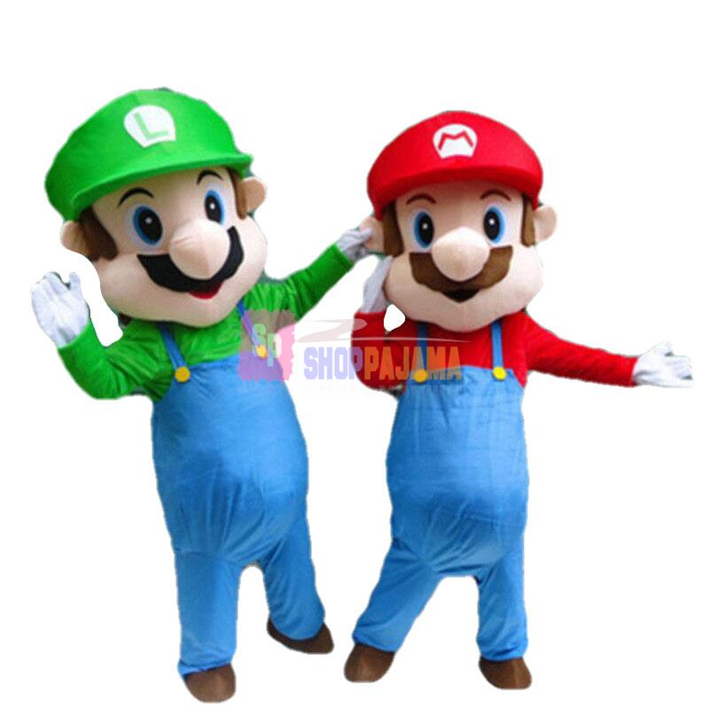 Happy Mario Mascot Costume Cartoon Character Mascot