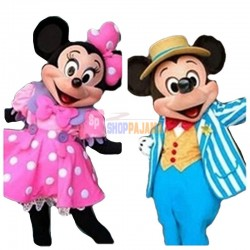 Mickey and Minnie Mouse Adult Mascot Costume Cartoon Mascot Costume