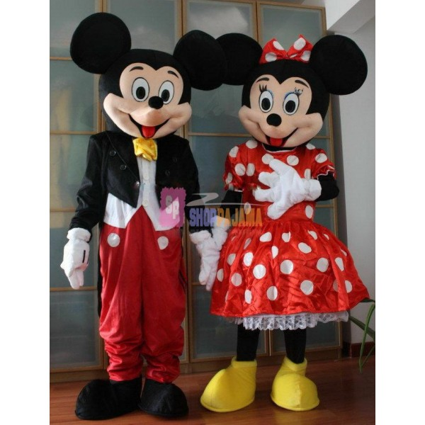New Mickey Mouse & Minnie Mouse Mascot Costume