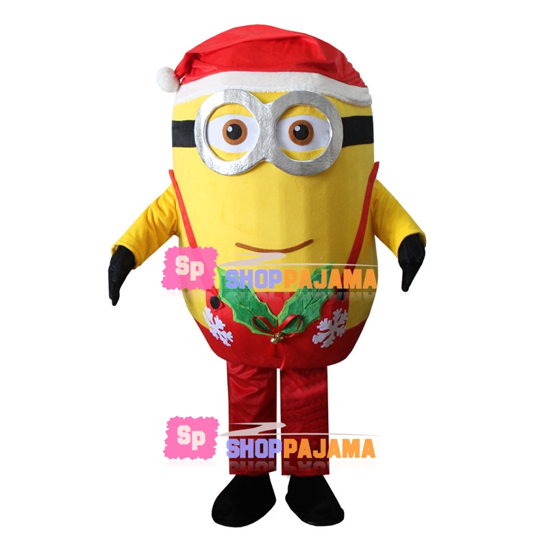 Christmas Minion Mascot Costume For Party