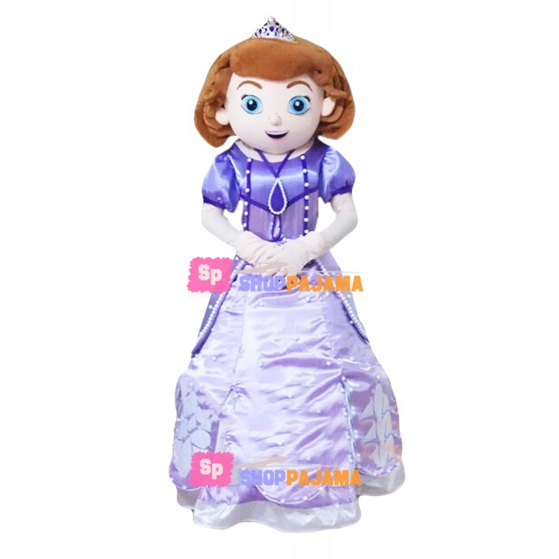 Sofia The First Cartoon Mascot Costume