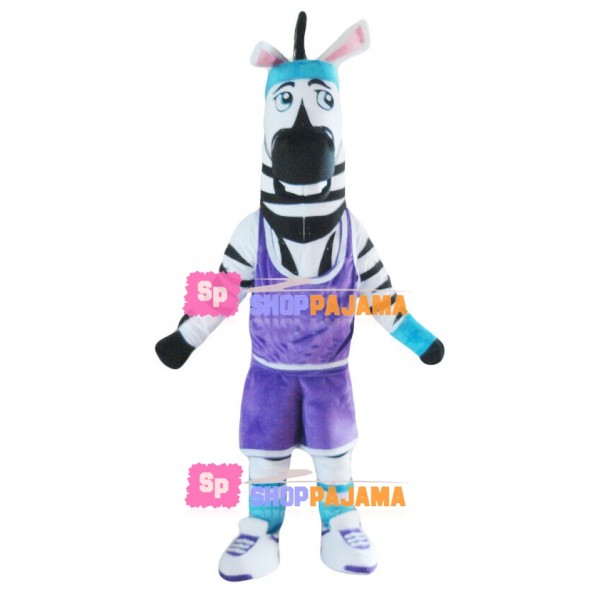 Motivational Zebra Athlete Mascot Costume