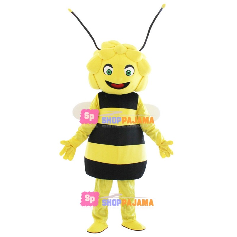 Lifesome Curly Bee Mascot Costume