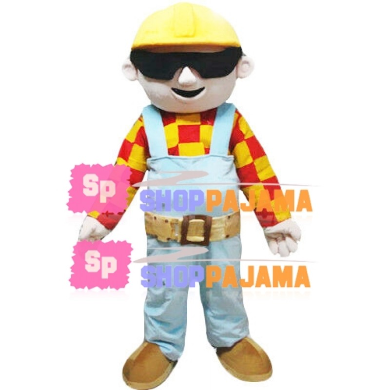 Construction Engineer Mascot Costume