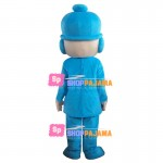 Blue Earth Boy Pocoyo Mascot Costume