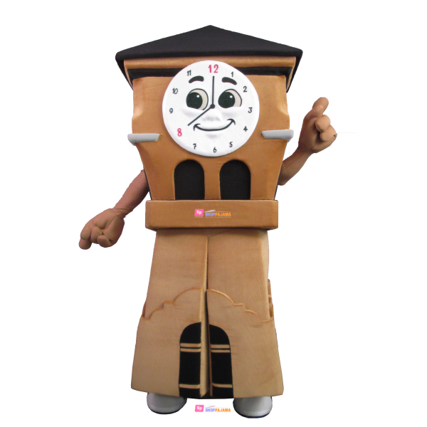 Vintage Wall Clock Mascot Costume