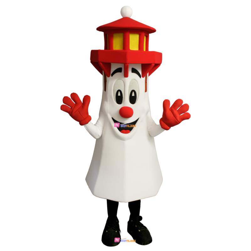 Towering Red Roof Tower Mascot Costume