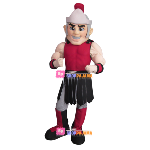 Imposing Muscular Soldier Mascot Costume
