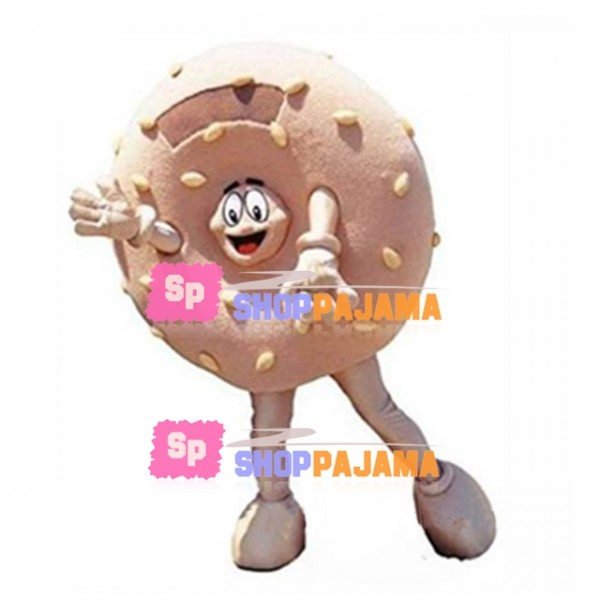 Crispy Bread Filled With Sesame Seeds Mascot Costume