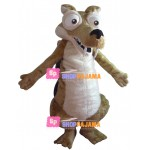 Fanged Mole With Protruding Mouth Mascot Costume