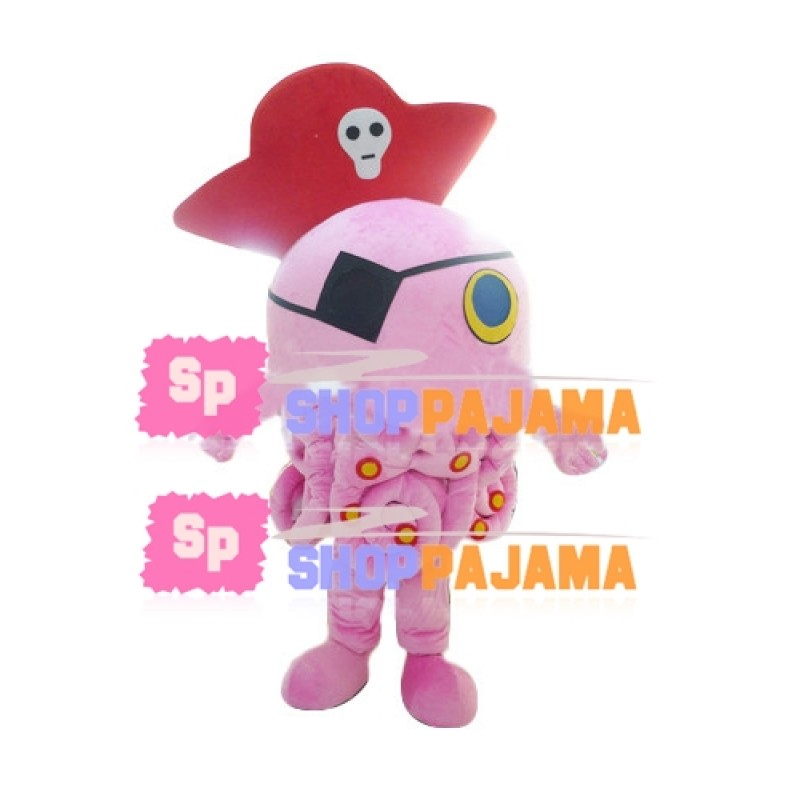 One-eyed Pirate Octopus Mascot Costume