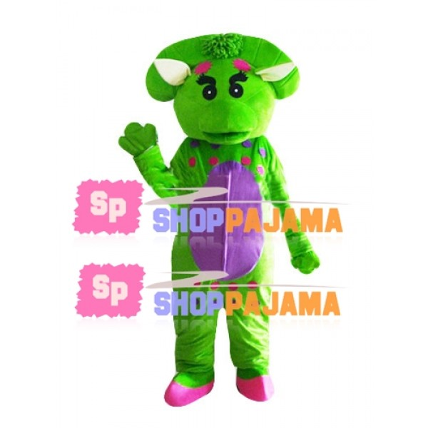 Barney & Friends Green Dinosaur Mascot Costume